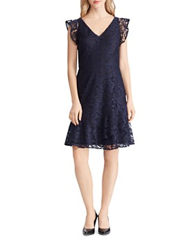 Ralph Lauren - Lace Cap-Sleeve Dress