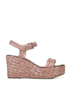 Sam Edelman - Women's Deena Raffia Wedge Heel Platform Sandals