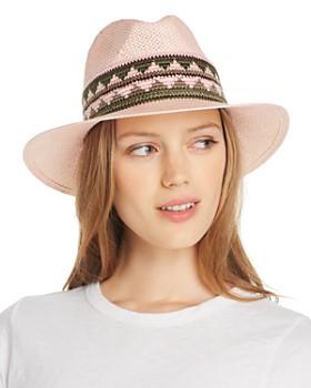 a651db00 AQUA - Geometric-Trim Panama Hat - 100% Exclusive