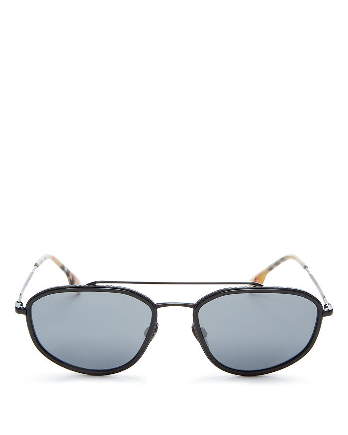 Burberry - Men's Brow Bar Rectangular Sunglasses, 56mm