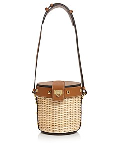Salvatore Ferragamo - Small Wicker Bucket Bag