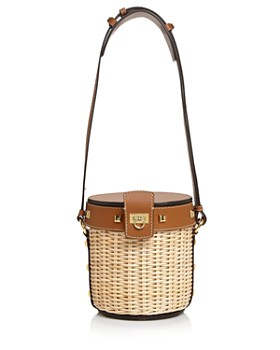 45f5bc232c37 Salvatore Ferragamo - Small Wicker Bucket Bag ...