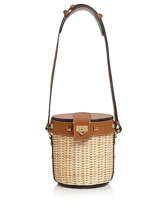 3fb123d951 Salvatore Ferragamo - Small Wicker Bucket Bag