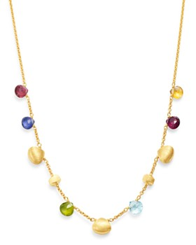 Marco Bicego - 18K Yellow Gold Paradise Gemstone Charm Collar Necklace, 16""