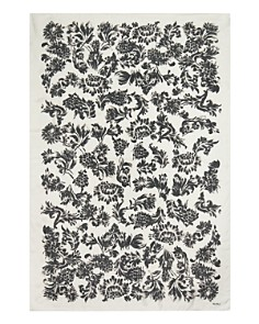 Max Mara - Brushstroke Floral Silk Oblong Scarf
