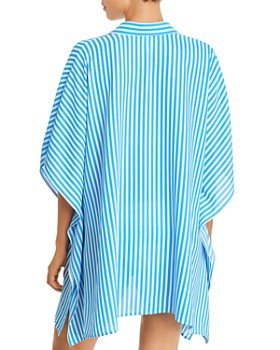 Tommy Bahama - Palm Party Striped Tunic Shirt Swim Cover-Up