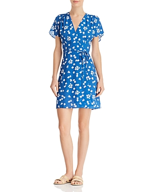 French Connection Verona Floral Tie-Detail Mini Dress
