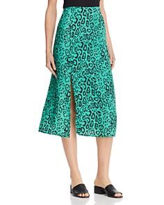 WAYF - Altamont Leopard-Print Midi Skirt