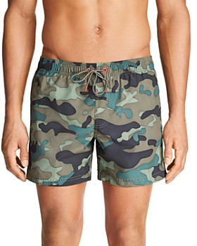 SUNDEK - Camouflage-Print Swim Shorts