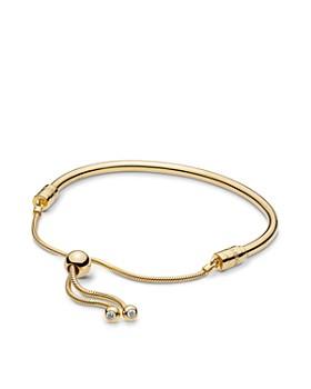 Pandora - Gold Tone-Plated Sterling Silver & Cublc Zirconia Shine Bracelet