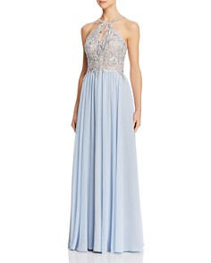Avery G - Embroidered Chiffon Gown
