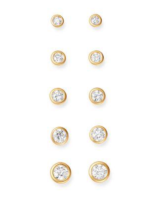 Diamond Bezel Stud Earrings in 14K Yellow Gold,  0.50 ct. t.w.  - 100% Exclusive