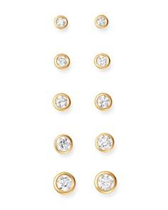 Bloomingdale's - Diamond Bezel Stud Earrings in 14K Yellow Gold, .33-1.0 ct. t.w. - 100% Exclusive