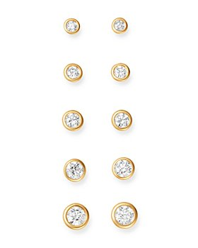 Bloomingdale's - Diamond Bezel Stud Earrings in 14K Yellow Gold, 0.20-1.0 ct. t.w. - 100% Exclusive