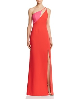 e60ce162e6ff BCBGMAXAZRIA - Cutout Color-Block Gown ...