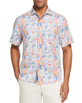 Tommy Bahama - Florence Short-Sleeve Floral-Print Classic Fit Shirt