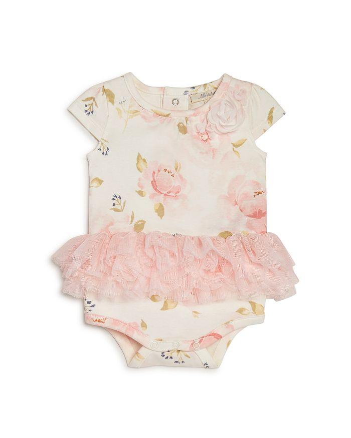 Miniclasix - Girls' Floral Tutu Bodysuit- Baby