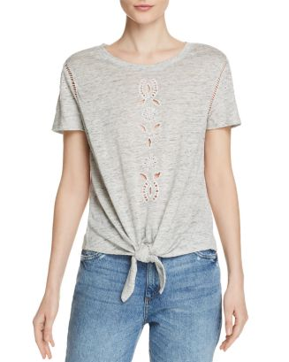 Eliana Embroidered Linen Tee by Generation Love