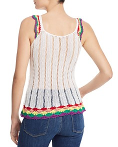 AQUA - Rainbow-Trim Crochet Tank - 100% Exclusive