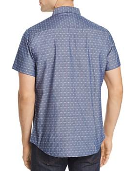 Sovereign Code - Antz Short-Sleeve Geometric Jacquard Slim Fit Shirt