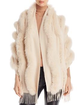1cc55884c8d Maximilian Furs - Fox Fur-Trim Cashmere Stole ...