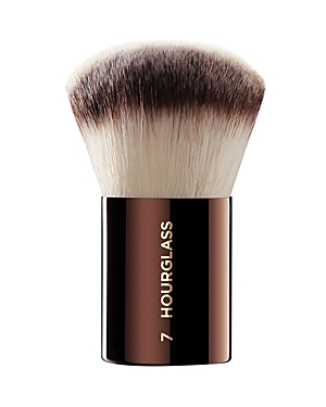 What It Is: The Hourglass No. 7 Finishing brush is a full and rounded brush, and is designed to effortlessly buff on foundation, blush or powder. What It Does: - Features Peta-approved, high-grade, ultra-soft Taklon bristles - Weighted metal handle provides control for effortless blending and application - May be used to apply liquid, cream or powder products - Taklon is an excellent alternative for those who suffer from allergies to animal hair - Taklon is a more hygienic alternative to animal