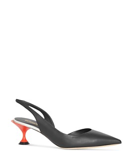 Burberry - Women's Leticia d'Orsay Slingback Pumps