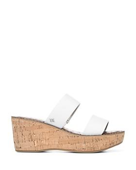 Sam Edelman - Women's Rydell Cork Wedge Heel Sandals