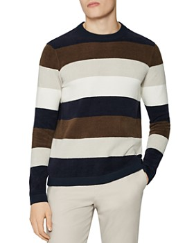 REISS - Colorado Chanelle Stripe Crewneck Sweater