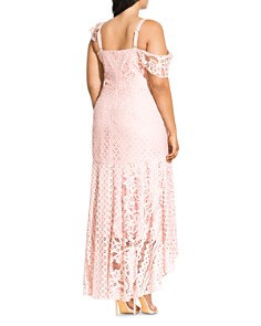 City Chic Plus - Femme Fatale Lace Maxi Dress