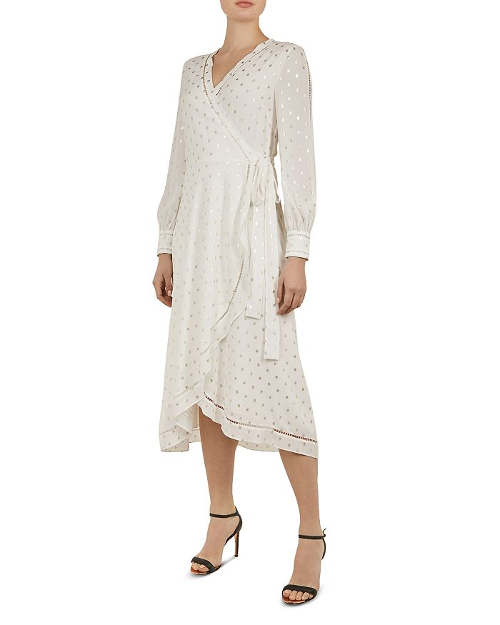 Ted Baker - Hevenly Embroidered Wrap Dress