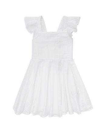 Ralph Lauren - Girls' Windowpane Fit-and-Flare Dress - Little Kid