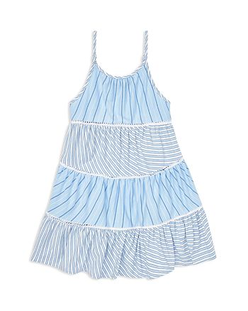 Ralph Lauren - Girls' Tiered Striped Dress - Little Kid