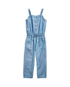 Ralph Lauren - Girls' Chambray Jumpsuit - Little Kid