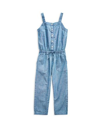 Ralph Lauren - Girls' Chambray Jumpsuit - Little Kid