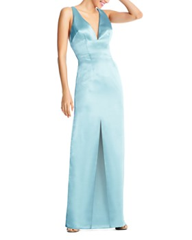 Aidan by Aidan Mattox - Liquid Satin Column Gown