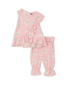 7 For All Mankind - Girls' Floral Print Tank & Pants Set - Baby