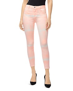 J Brand - Coated Alana High-Rise Jeans in Coronal Shockwave