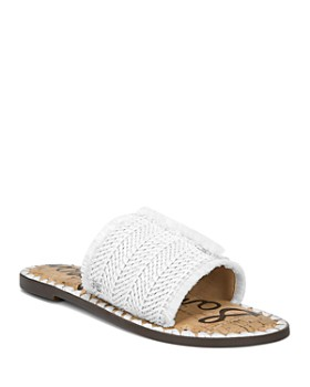 28857e276fcb Sam Edelman - Women s Glenda Raffia Frayed Slide Sandals ...