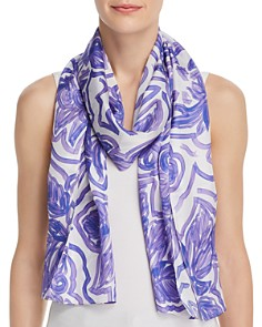 Echo - Sketch Floral Silk Scarf