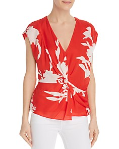 Joie - Bosko Twist-Front Silk Top