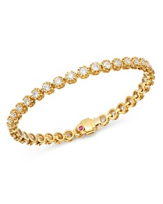 Roberto Coin - 18K Yellow Gold Victorian Diamond Tennis Bracelet
