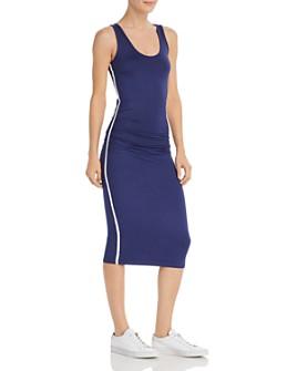 Enza Costa - Italian Shine Side-Stripe Tank Dress