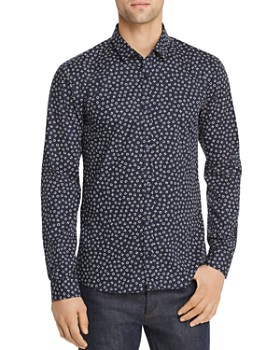 HUGO - Ero Logo Letter-Print Slim Fit Shirt
