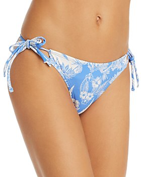 Echo - Two-Tone Botanical Bikini Bottom