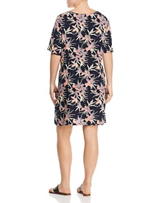 JUNAROSE Plus - Arya Leaf-Print Shift Dress