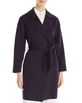 HARRIS WHARF - Dropped Shoulder Belted Coat