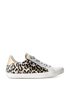 Zadig & Voltaire - Women's Zadig Embossed Leopard Low-Top Sneakers