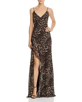 AQUA - Leopard-Print Gown - 100% Exclusive