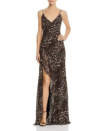 AQUA - Leopard-Print Gown - 100% Exclusive